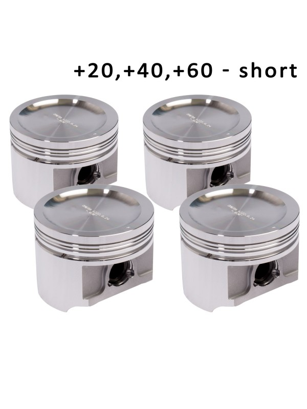OMEGA FORGED PISTONS - 020, 040, 060 - SHORT HEIGHT
